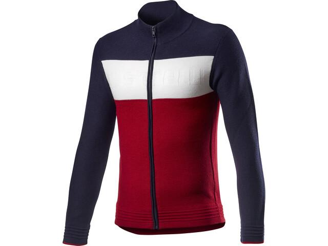 Castelli Armando Sweater Heren, savile blue/red/off white